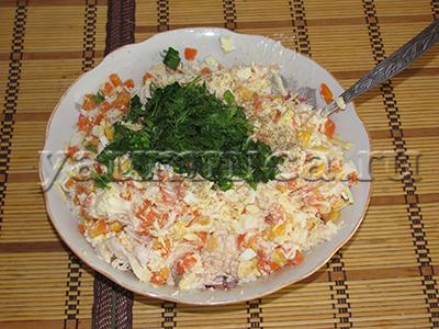 салаты с сыром рецепты