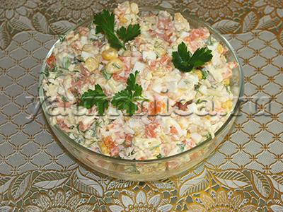 куриный салат с кукурузой рецепты