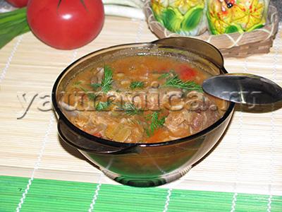 суп со свиными рёбрышками рецепт