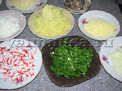 салаты с крабовыми палочками вкусные рецепты