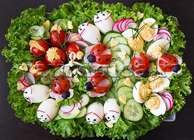 украшение салатов своими руками