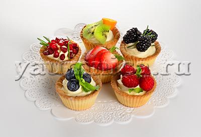 фруктовые корзиночки рецепт