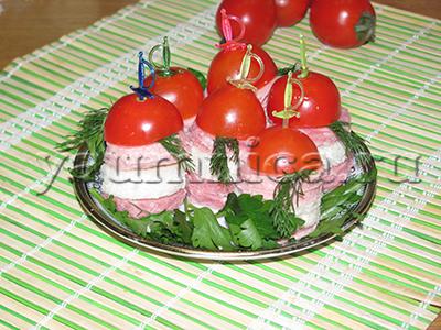 Простые канапе на праздничный стол рецепт
