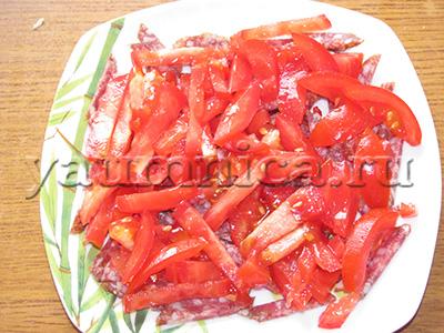 салаты с колбасой рецепты с фото