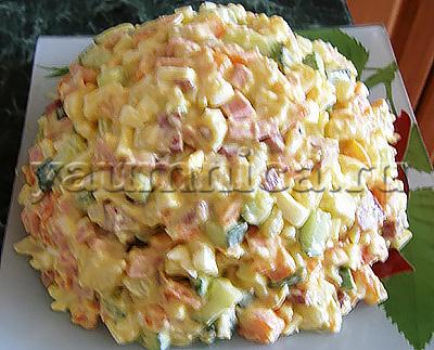 салаты с майонезом рецепты