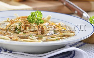 суп с блинчиками рецепт