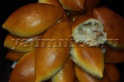 Вкусные домашние дрожжевые пирожки с мясом рецепт