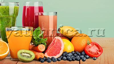 рецепты овощных напитков
