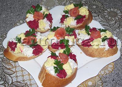 бутерброды с красной рыбой рецепты