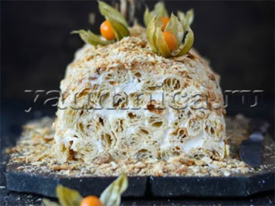 торт полено рецепт