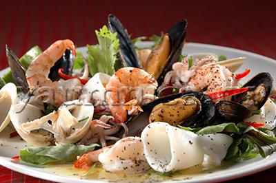 салат из морепродуктов рецепты
