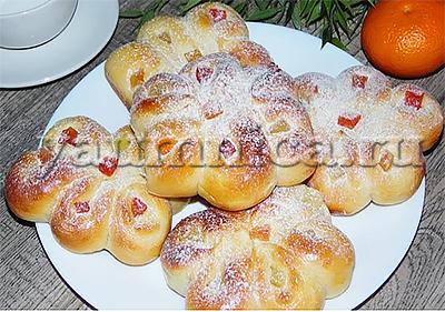 дрожжевые булочки рецепт