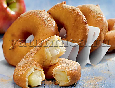 яблочные колечки рецепт