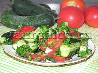 рецепт овощной закуски