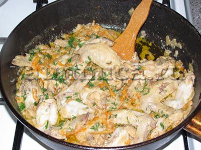 куриные крылышки в сметане рецепт
