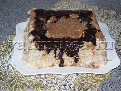 торт из слоеного теса рецепт