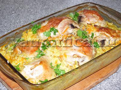плов с курицей рецепт