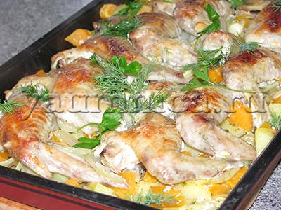 запеченная курица в духовке рецепт
