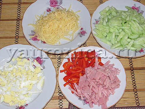 Салат лапоть рецепт