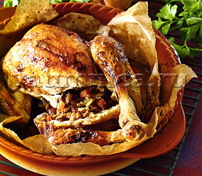 фаршированная курица рецепт