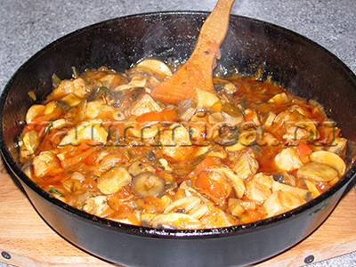 свинина с грибами рецепт