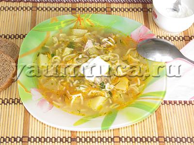 суп с вермишелью рецепт