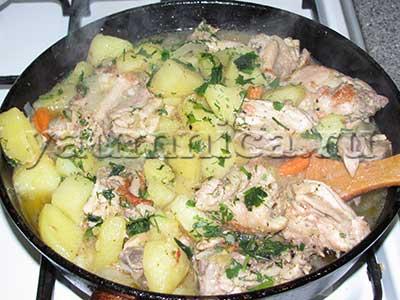 курица на сковороде рецепт