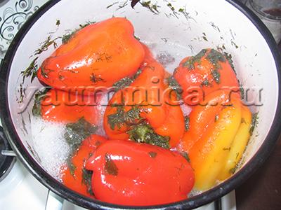 маринованный болгарский перец на зиму рецепт