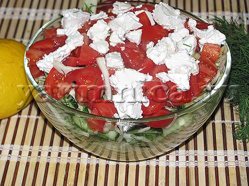 Салаты с мягким сыром рецепты с