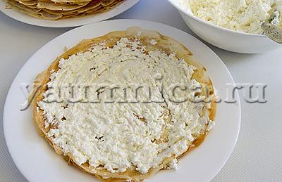 рецепт домашнего блинного торта