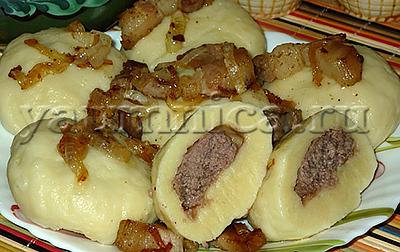 Картофельные галушки с фаршем рецепт