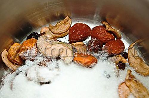 Рецепт компот из сухофруктов пошагово с