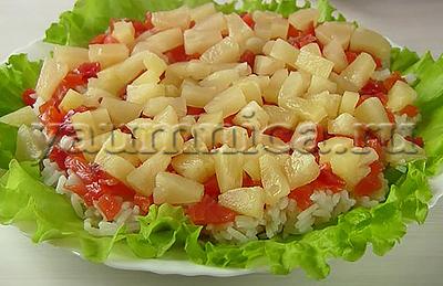 салат с ананасом рецепт