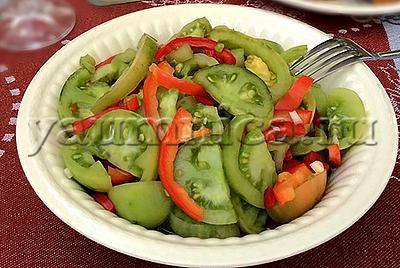 Пошаговый рецепт салата из зеленых помидоров