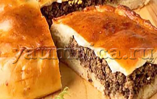 Кулебяка с мясом рецепт с фото пошаговый рецепт