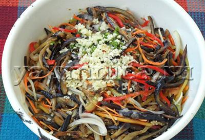 салат из баклажанов с перцем рецепт