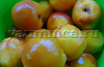 Персики в собственном соку пошаговый рецепт
