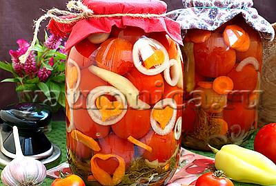 помидоры с луком и морковью рецепт