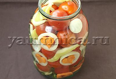 помидоры с луком рецепт