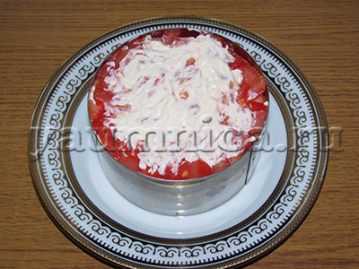 салат крабовые палочки помидоры сыр