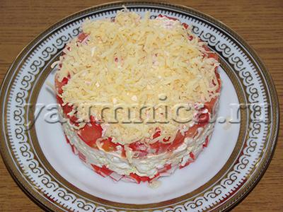 салат крабовые палочки помидоры яйца