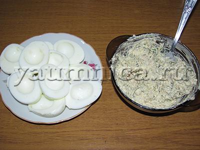 фаршированные яйца начинки
