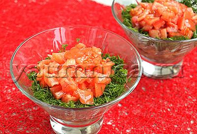 Салат с курицей и помидорами рецепт
