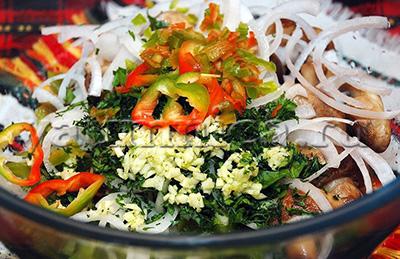 Салат из печеного перца рецепт