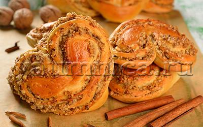 слоеные слойки с орехами рецепт