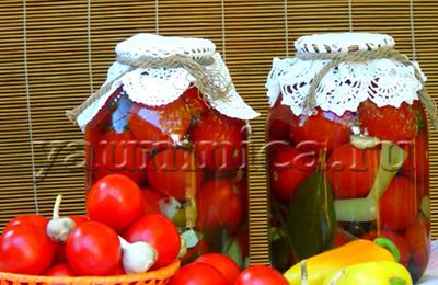 помидоры на зиму без уксуса рецепт