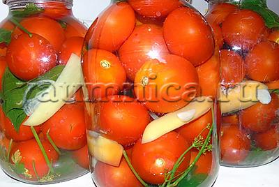 помидоры в банке без уксуса рецепт